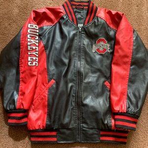 Ohio state leather jacket xs